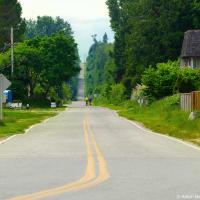 Пограничная улица между США и Канадой (на стороне Америки)