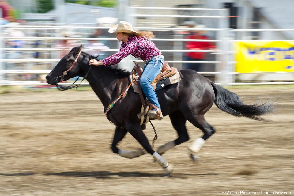 Barrel Horse Racing (Rodeo at Ashcroft, BC)