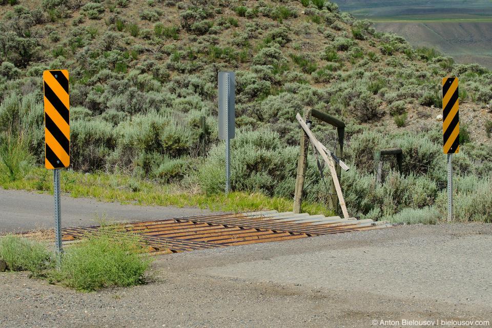 Cattleguard grid (Ashcroft, BC)