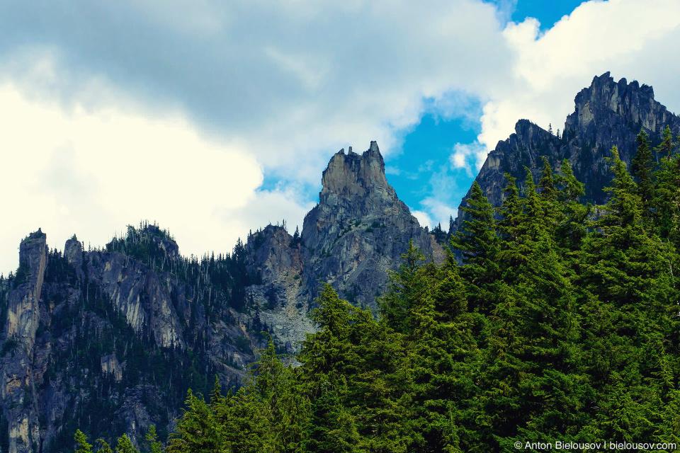 Rocky Flora Peak as seen from Lindeman Lake