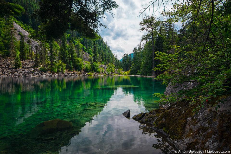 Озеро Lindeman Lake (Chilliwack, BC)