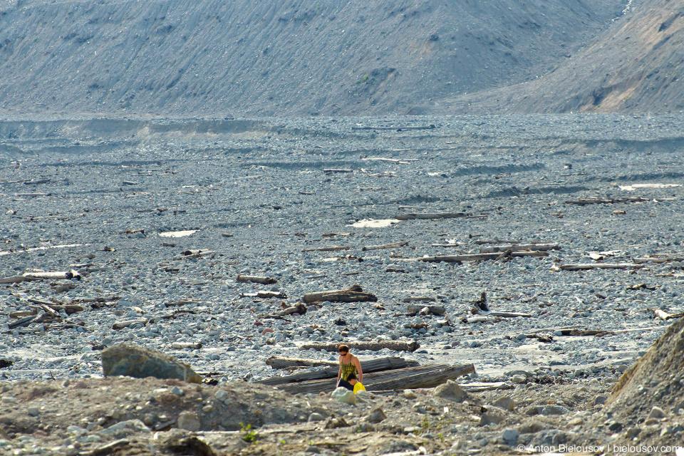 Завалы на месте оползня 2010 года в долине Lillooet River в районе городка Pemberton, BC