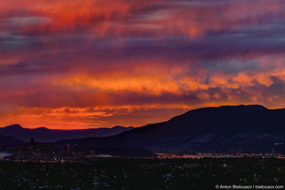 Уж увольте, но слишком красивый закат нынче в Ванкувере