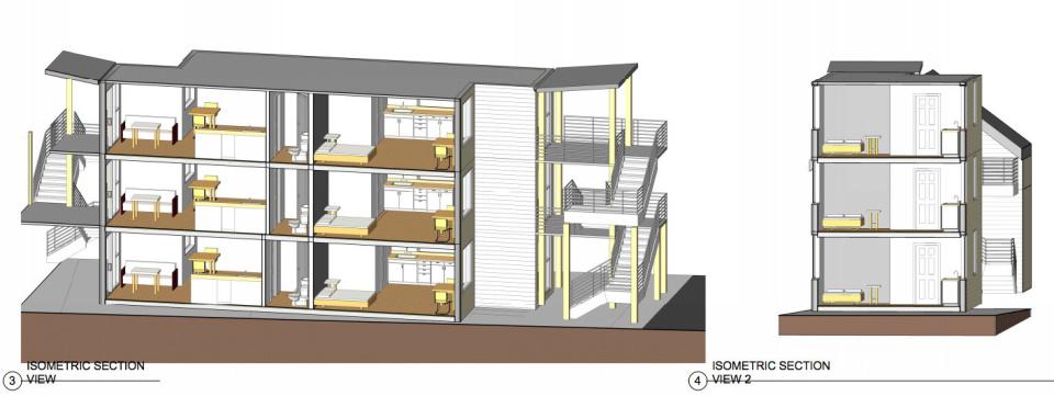 Ванкувер стал первым канадским городом, где из 12 грущовых корабельных контейнеров построили 12-квартирный дом для малоимущих площадью по 26 м2.