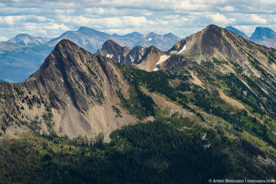 Вид с вершины горы Frosty Mountain, Manning Provincial Park, BC