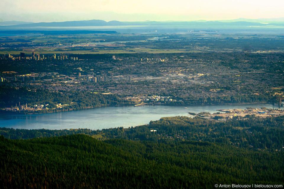 Вид на Ванкувер с вершины Dog Mountain