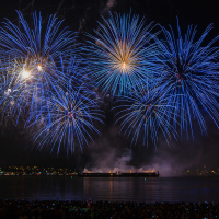 Vancouver Lights Festival 2013 Fireworks from Second Beach