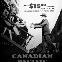 Старая реклама иммиграции в Канаду 3-м классом за $15