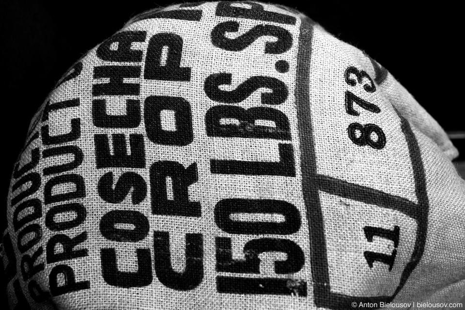 Маркировка на мешке из запасов колонистского вагона  в Канаде начала XX века