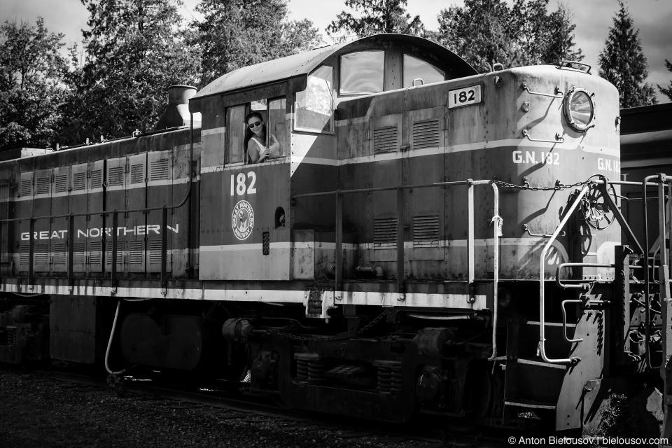 Вики в кабине локомотива