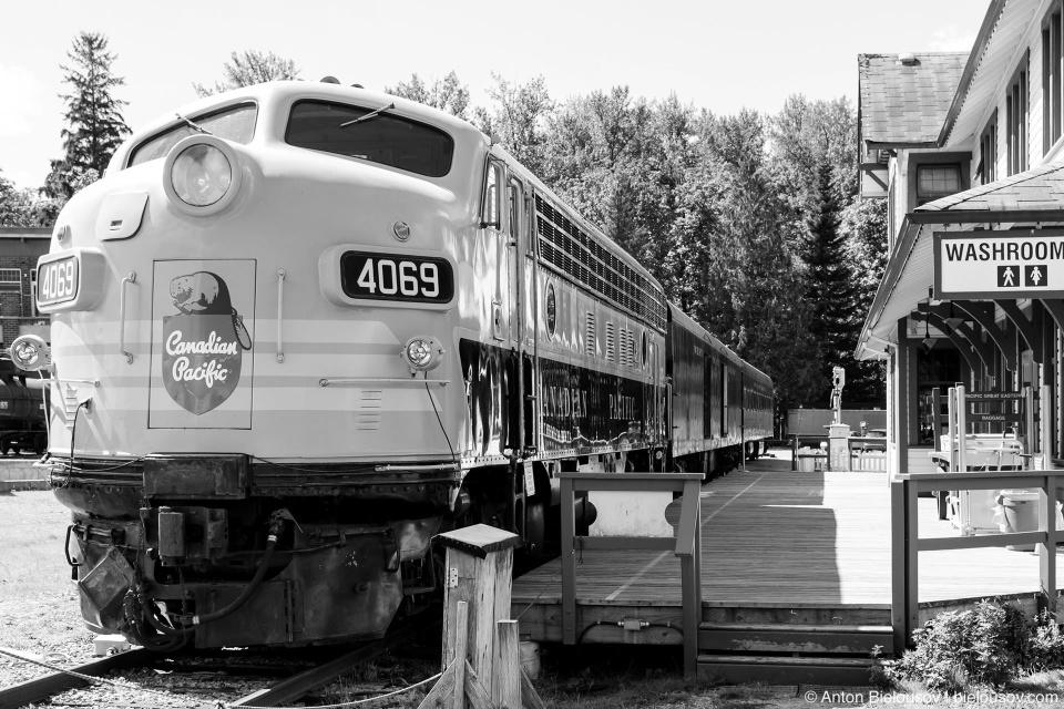 Локомотив  West Coast Railways на станции парка-музея