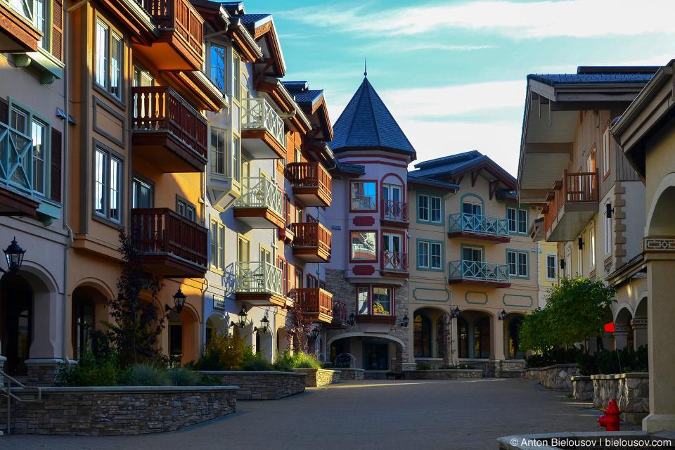 Sun Peaks resort street
