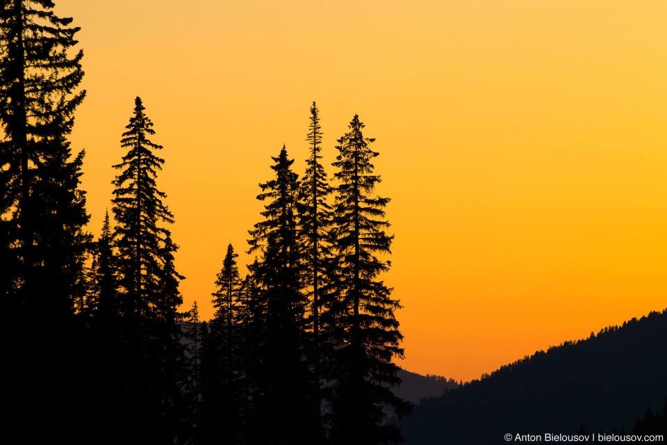 Sunset in Sun Peaks, BC