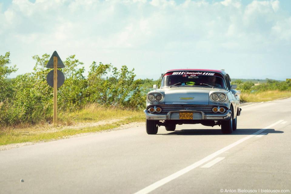 Cuba classic Chevy taxi