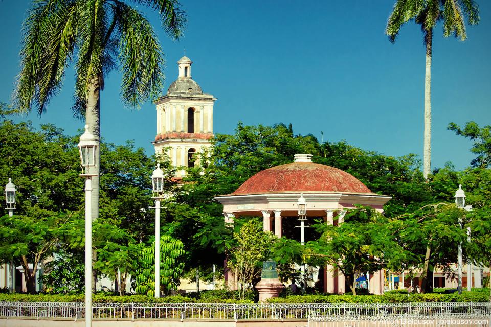 Remedios town centre park (Cuba)