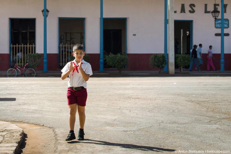 Кубинский пионер на свободе. — Remedios, Villa Clara, Cuba