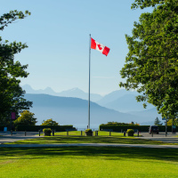 Флаг Канады в UBC (Ванкувер)
