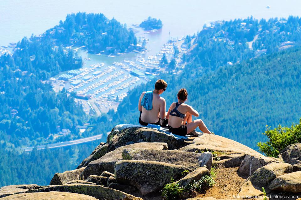Жаркий деньв Ванкувере (+32°C) — вид с Eagle Bluffs