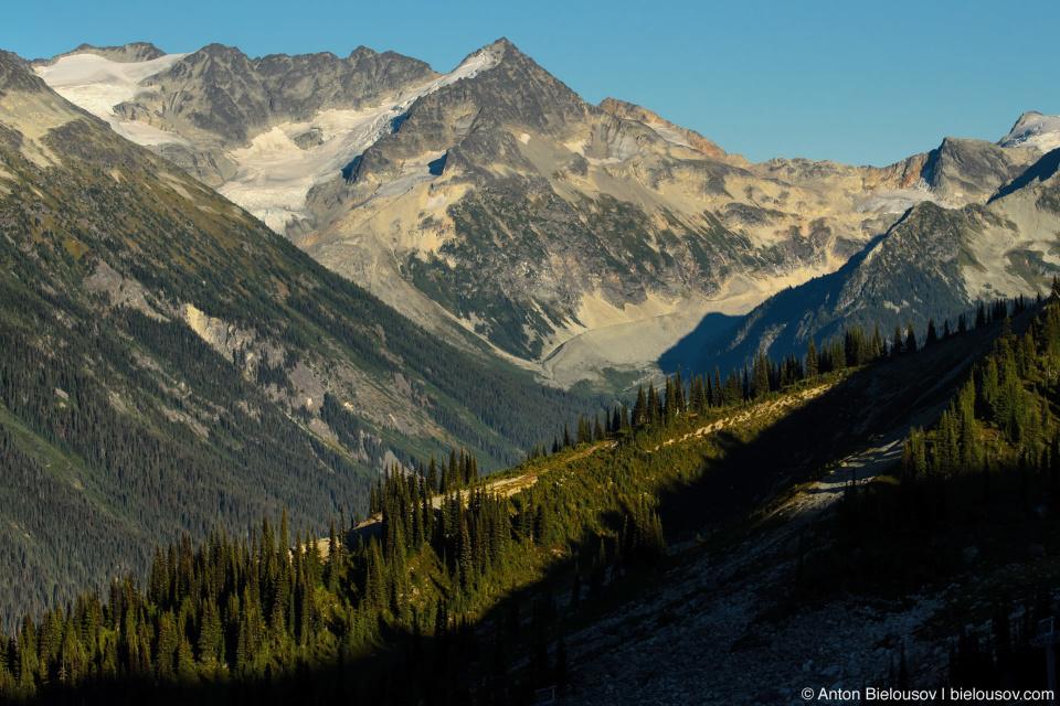 Вид с Peak 2 Peak гондолы