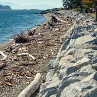 Sechelt, BC — пляж со стороны моря