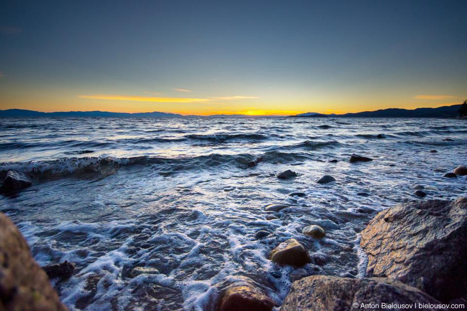 Sunset on a Sunshine Coast beach