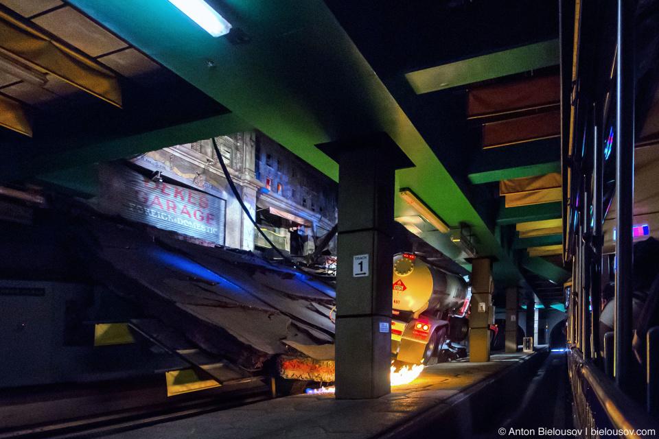 Metro Station Earthquake at Universal Studios Backlot, Hollywood, CA