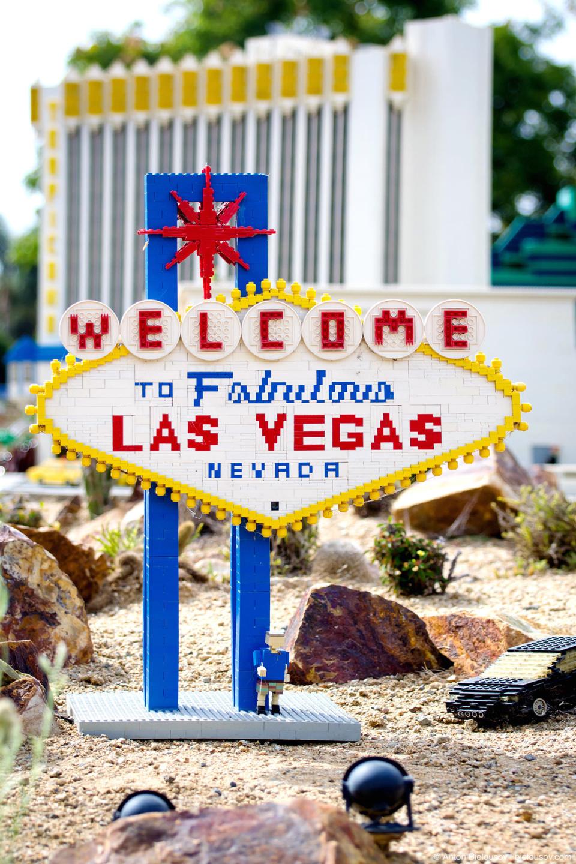 Las Vegas Welcome Sign in Legoland Miniland USA
