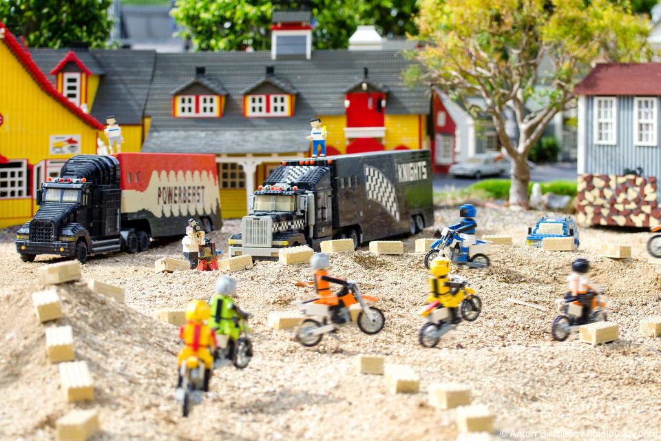 It's a race day! Lego motcross in Legoland, California