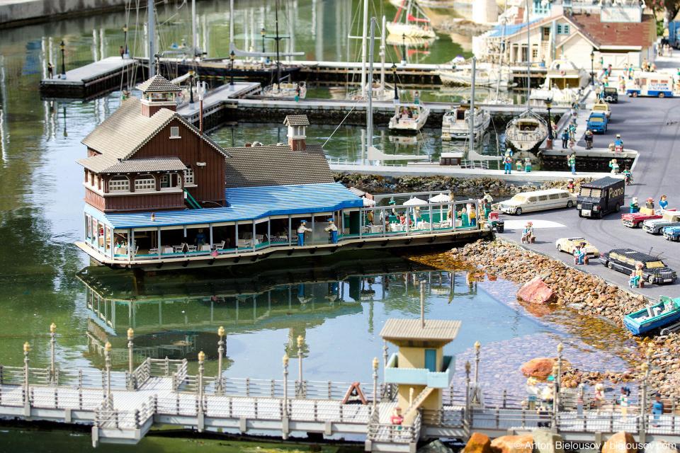 New England port in Miniland USA — Legoland, California