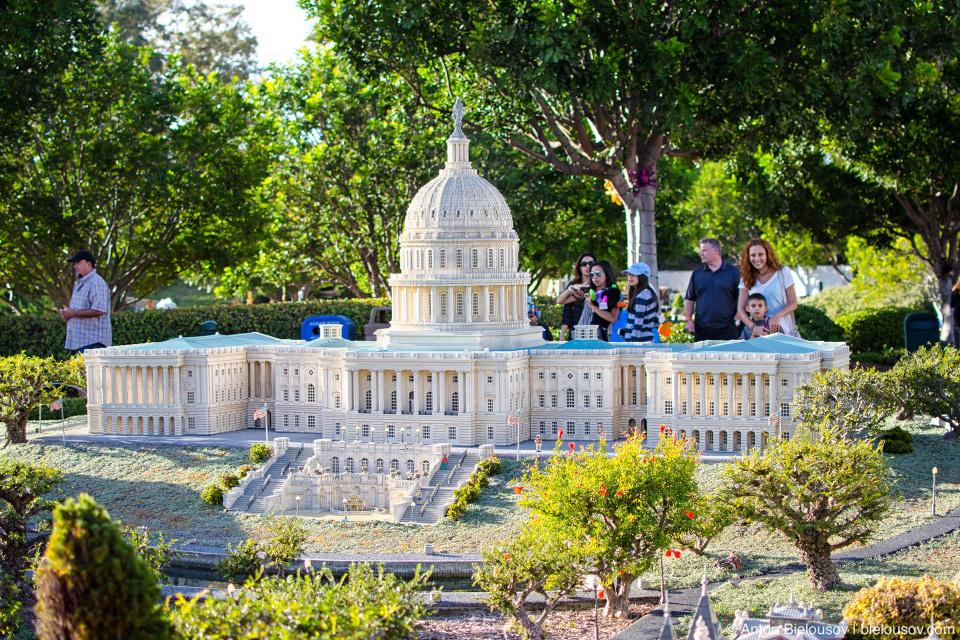 US Capitol in Legoland's Miniland USA