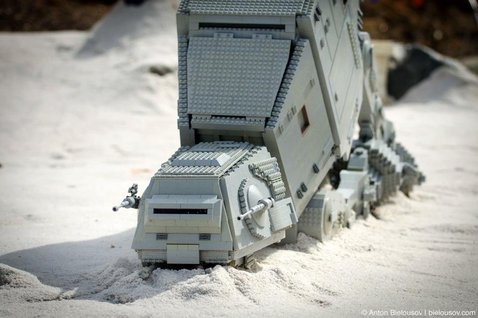 Lego Star Wars Armored Transport down in Legoland Miniland, California