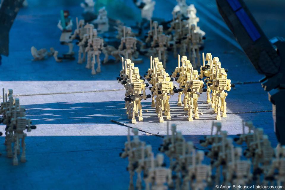 Lego Star Wars Clones Attack in Legoland Miniland, California
