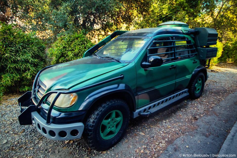 Jurassic Park Car at Universal Studios Backlot, Hollywood, CA