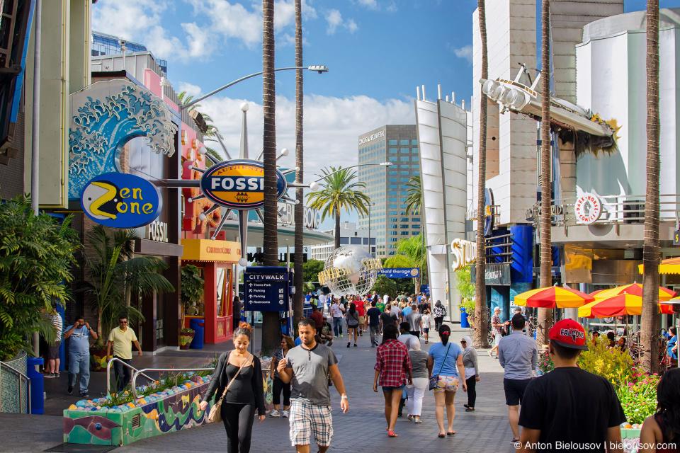 Universal Studios Citywalk. Hollywood, CA