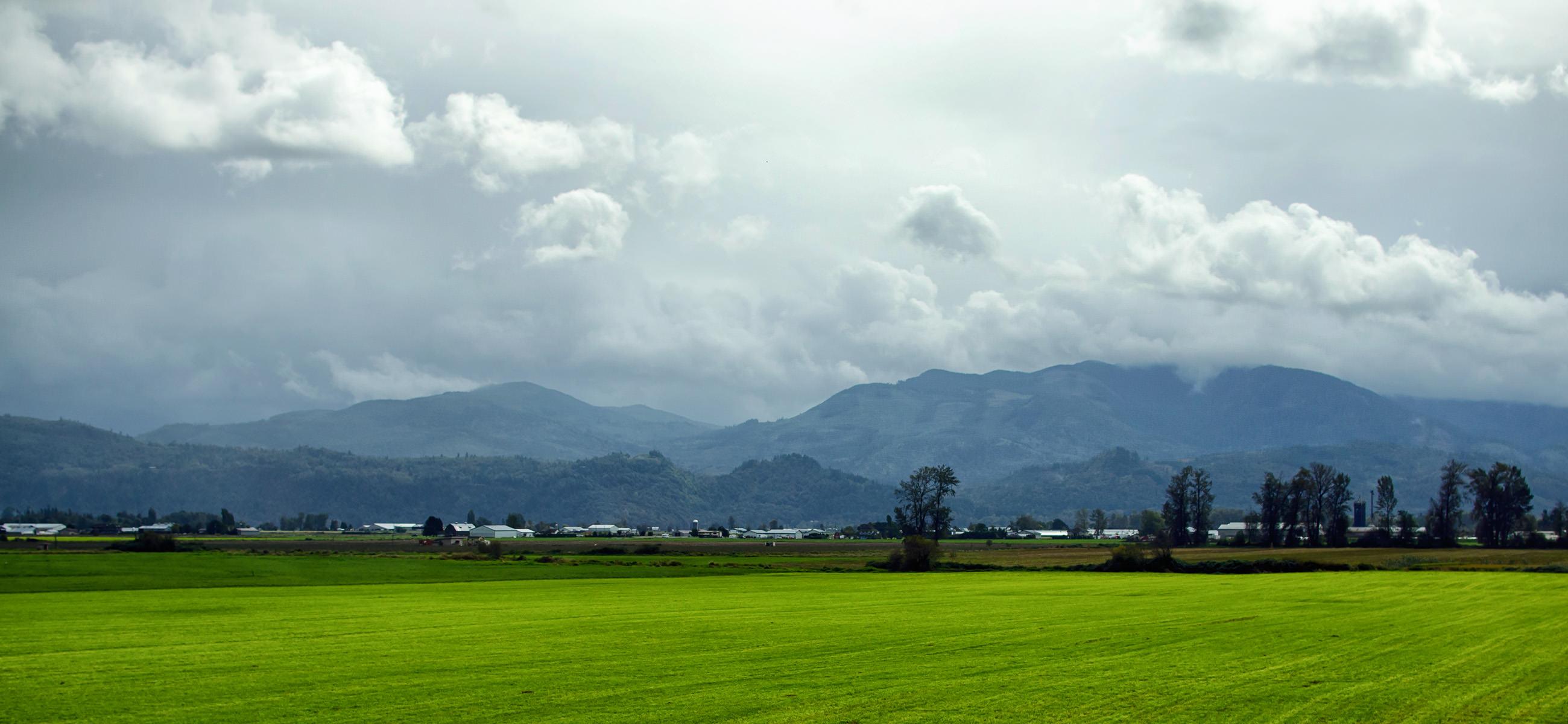 Панорама на долину реки Фрейзер с первого хайвея