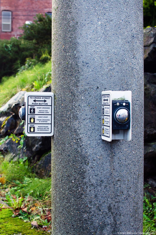 Кнопка пешеходного перехода в штате Вашингтон
