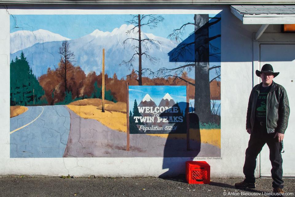 Twede's Cafe Twin Peaks mural art