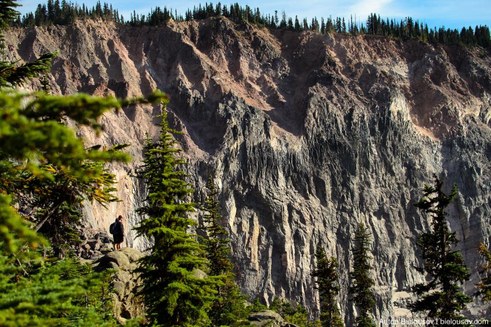 The Barrier (lava dam from Mount Price) on Garibaldi Lake