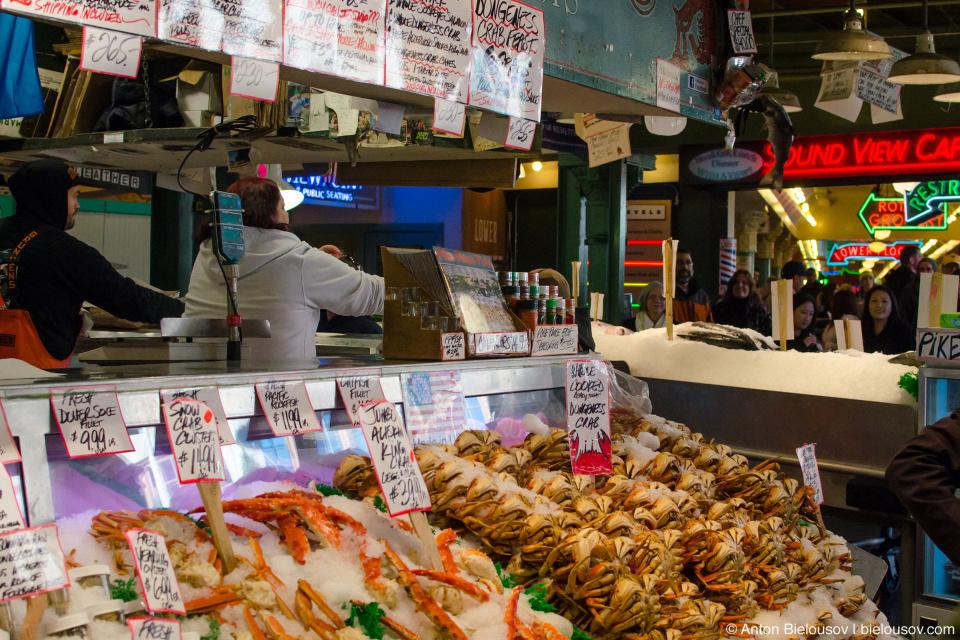 Рыбный рынок Pike Place Market (Seattle, WA)