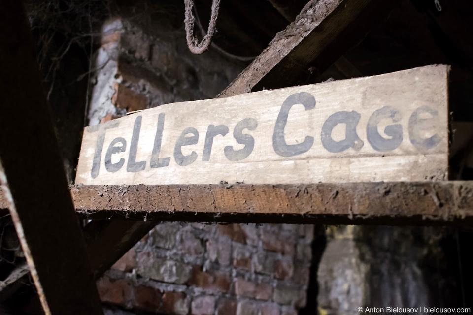 Seattle underground Tour: Teller's Cage
