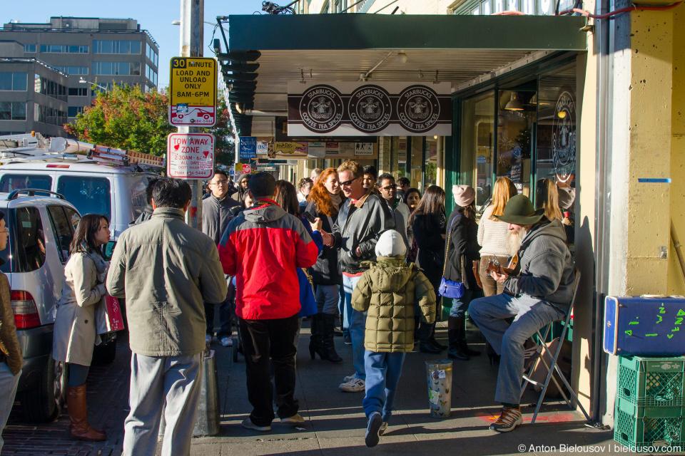 Pike Place Market — Место, где открылся первый в мире Старбакс. (Seattle, WA)