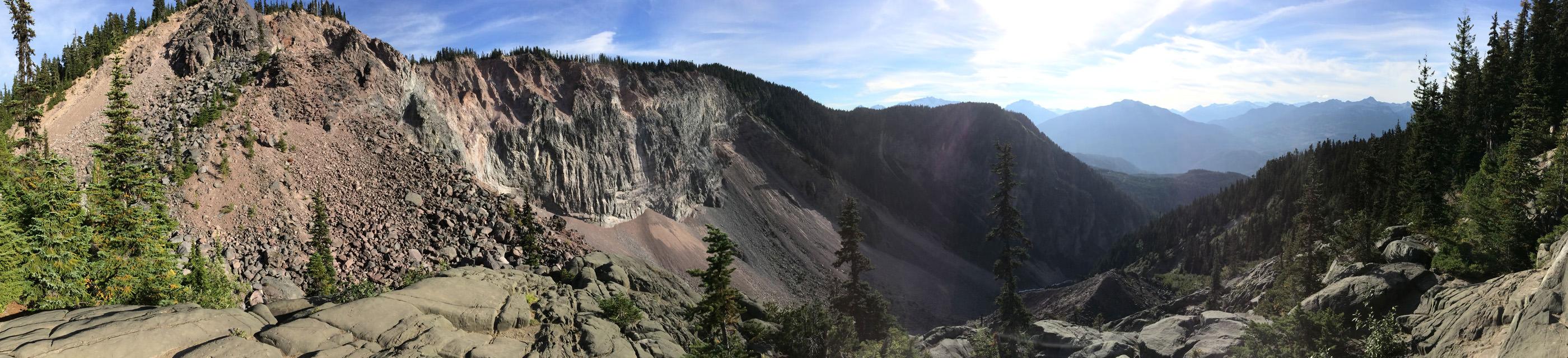 The Barrier lava dam panorama
