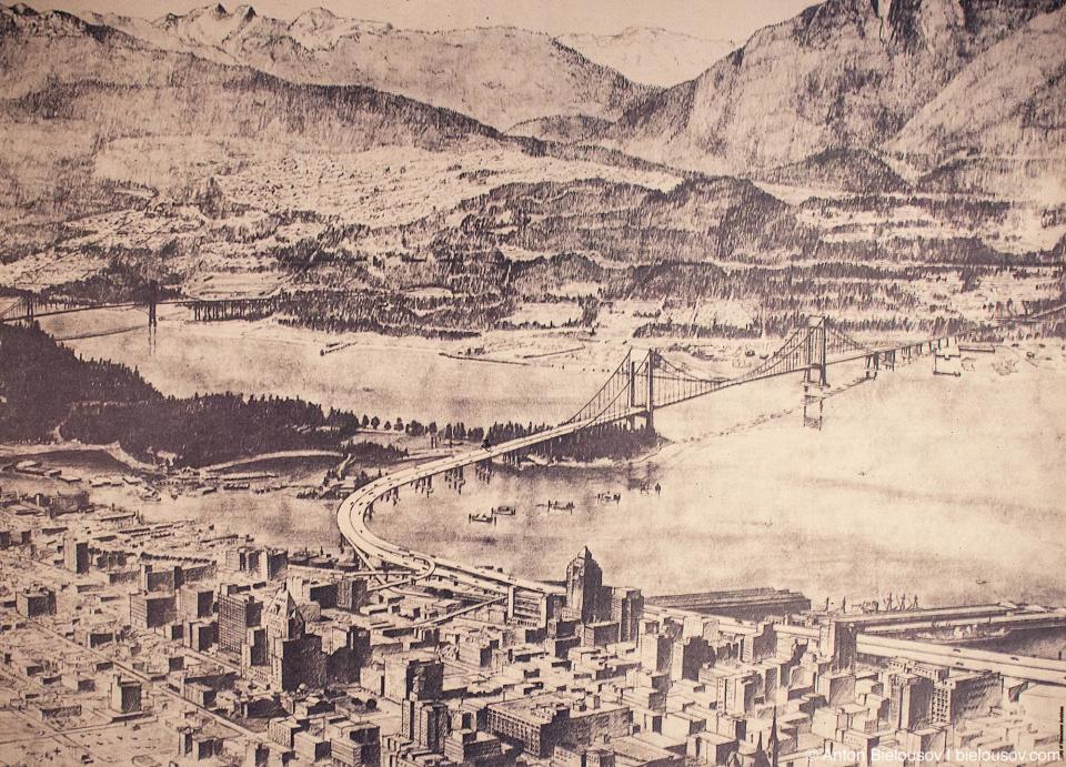 Проект шоссе через центра Ванкувера (1970-е)