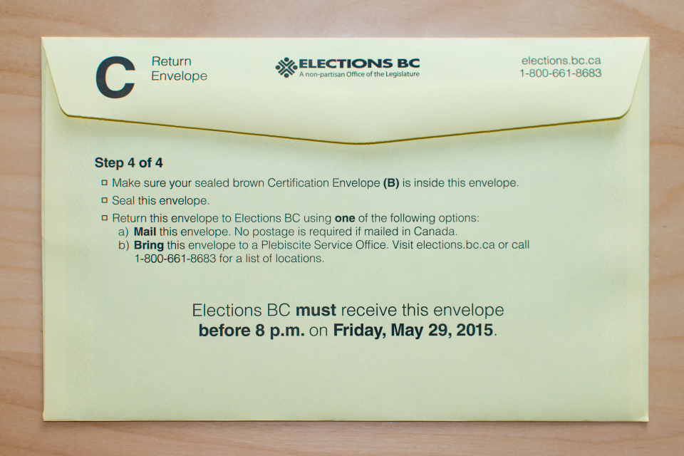 Metro Vancouver Transportation and Transit Plebiscite Voting Package Instructions