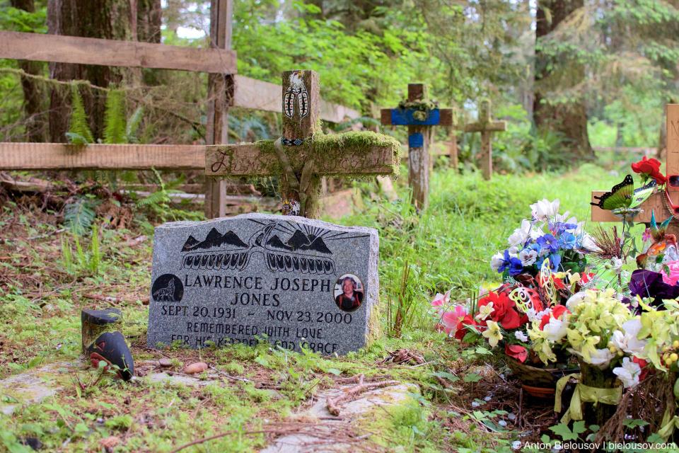 Могила на индейском кладбище