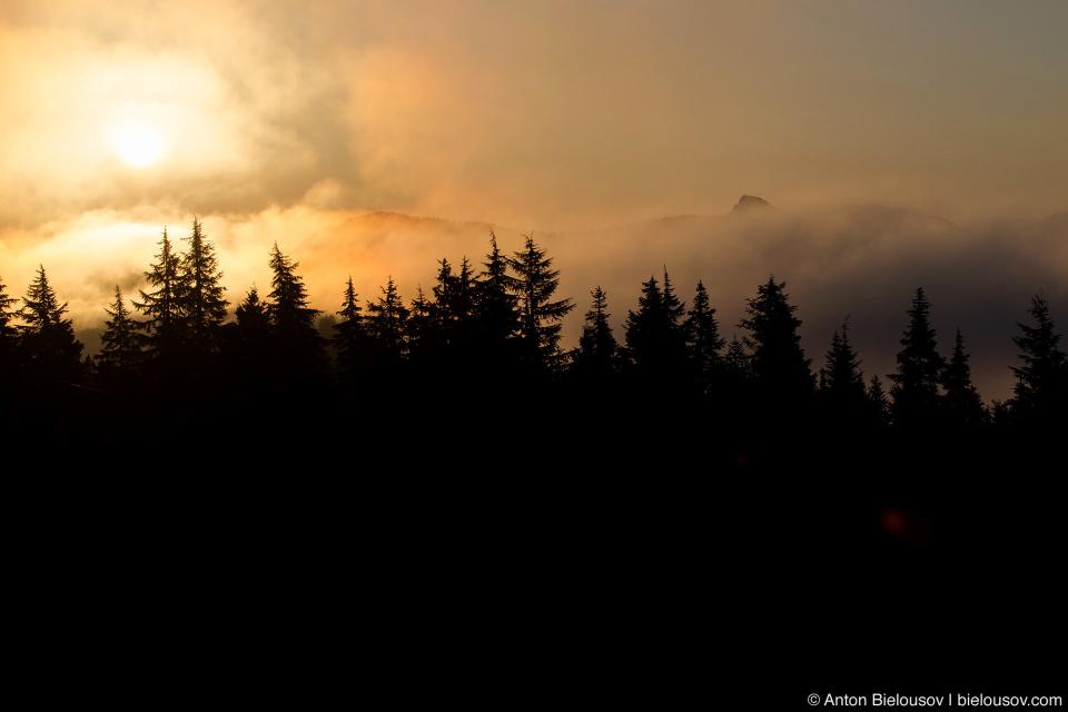 Восход солнца на горе Сеймур
