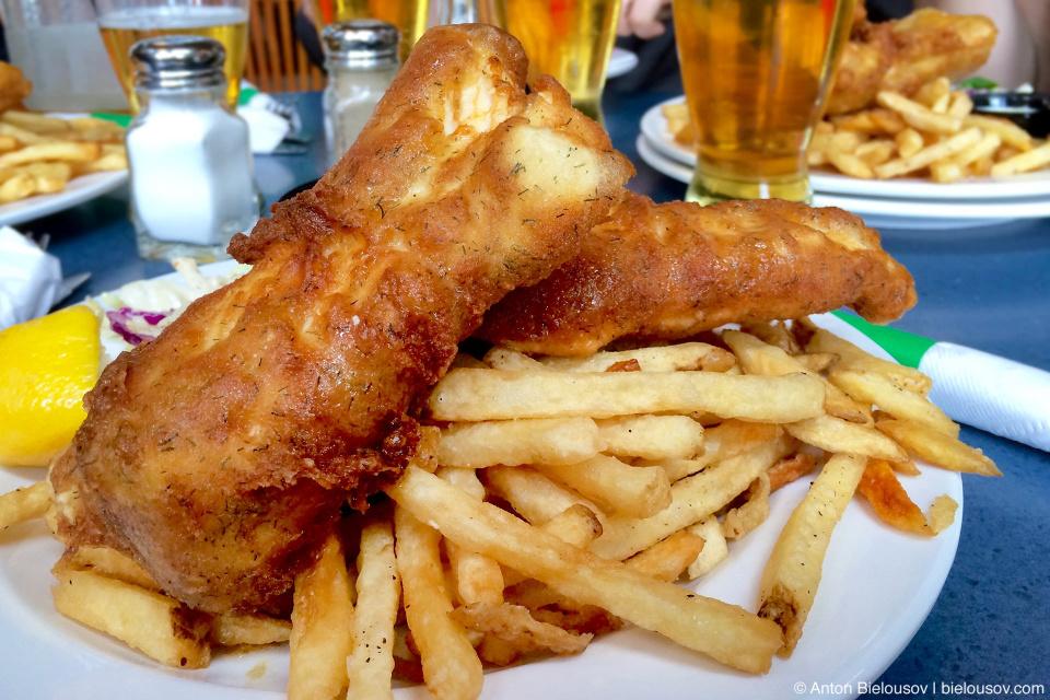 Fish-n-chips in Port Renfrew, BC