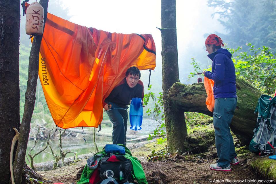 West Coast Trail, Cullite Cove campsite (58km)