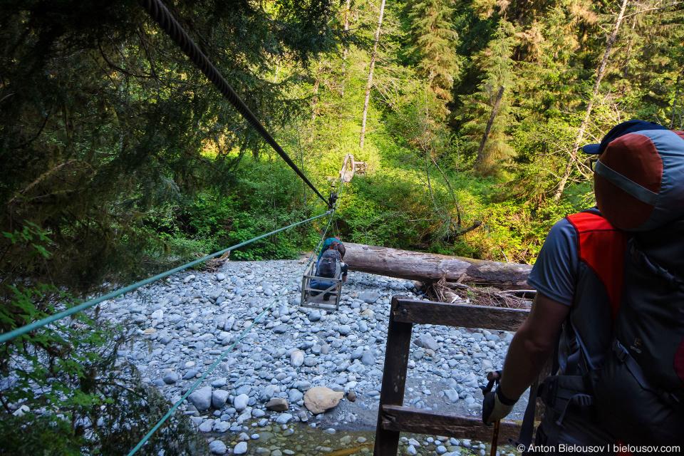 West Coast Trail: Cullite Creek Cable Car
