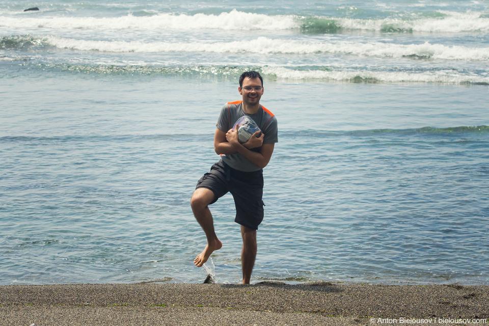 West Coast Trail: привал на пляже